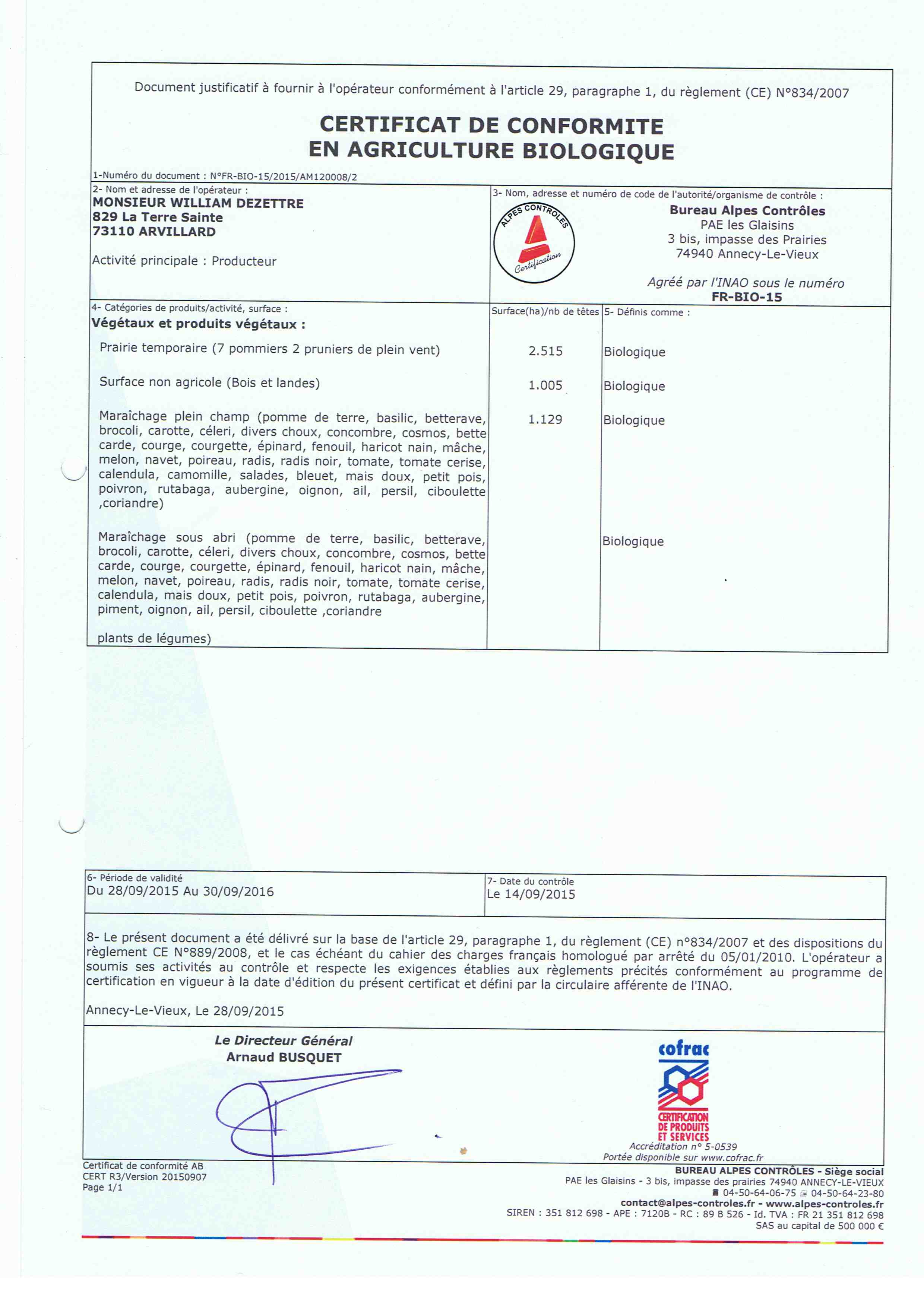 certif bio 2015-16